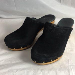 Ugg clogs 5772 Abbie black suede mule clog heeled